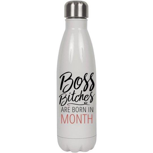 Custom Boss Bitch Water Bottle