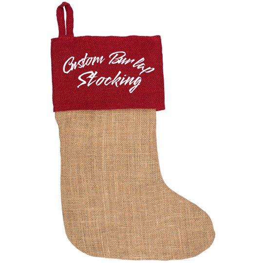 Custom Burlap Trendy Stockings