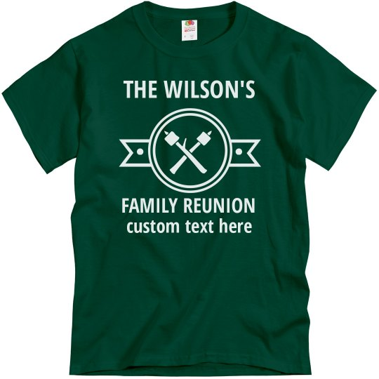 Custom Camping Family Reunion Tees