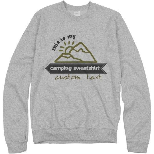 Custom Camping Sweatshirt