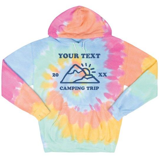 Custom Camping Tie-Dye Hoodie