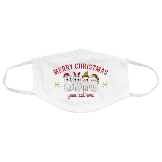 Custom Cats Christmas Mask
