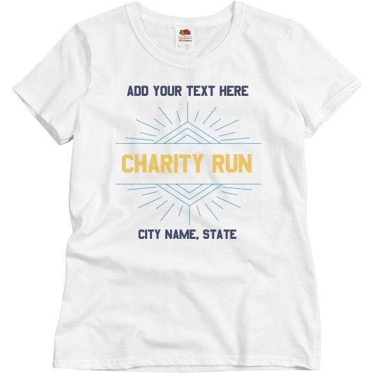 Custom Charity Shirts Great for Groups