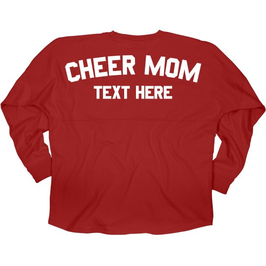 Custom Cheer Mom Game Day Jersey