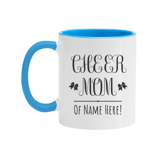 Custom Cheer Mom Name Gift