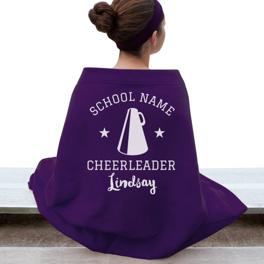 Custom Cheer School Name Blanket