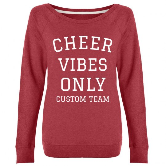 Custom Cheer Vibes Only Crew