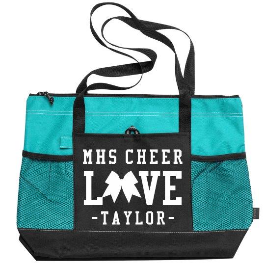 Custom Cheerleader School & Name