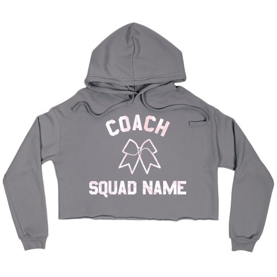 Custom Cheerleading Coach Trendy Crop