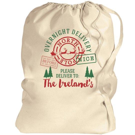 Custom Christmas Eve Santa Bag
