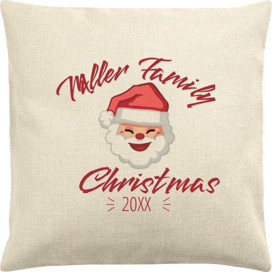 Custom Christmas Family Pillowcase Holiday Gift