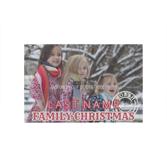 Custom Christmas Family Rug