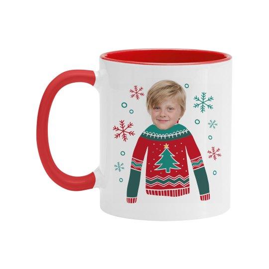 Custom Christmas Sweater Mug Gift