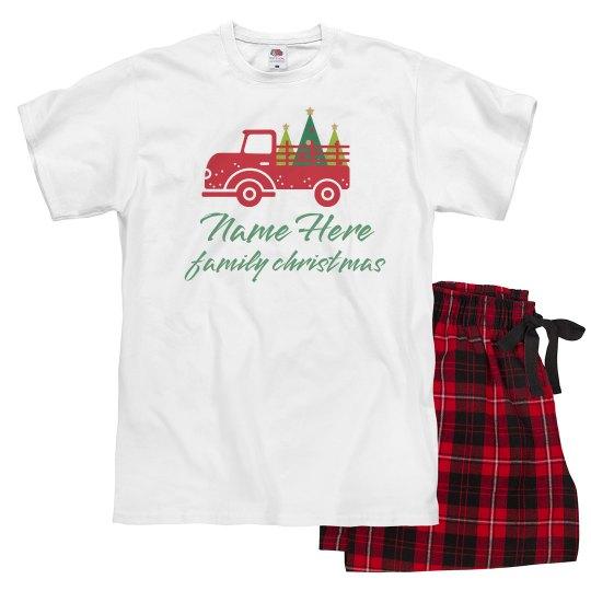 Custom Christmas Truck Pajamas