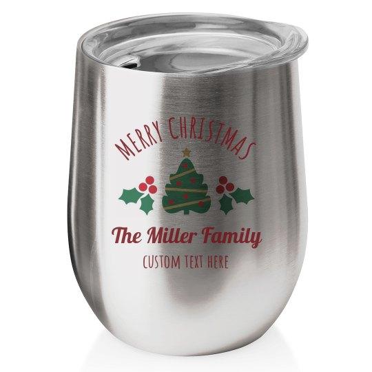 Custom Christmas Wine Tumblers
