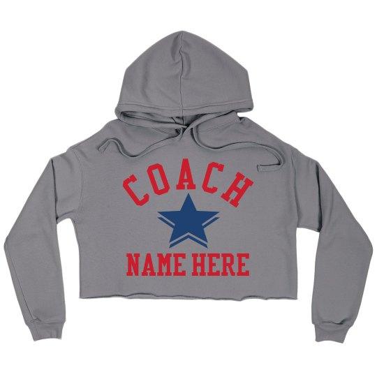 Custom Coach Crop Sweatshirt