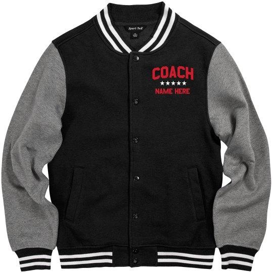 Custom Coach Name Stars Jacket
