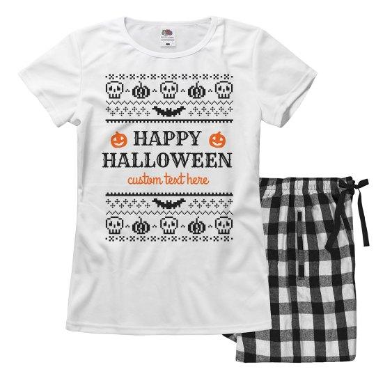 Custom Comfiest Halloween Pajama Set
