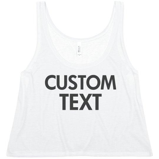 Custom Comfy Crop-Top Tee