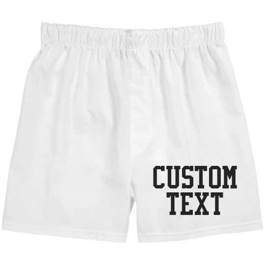 Custom Cotton Boxer Shorts