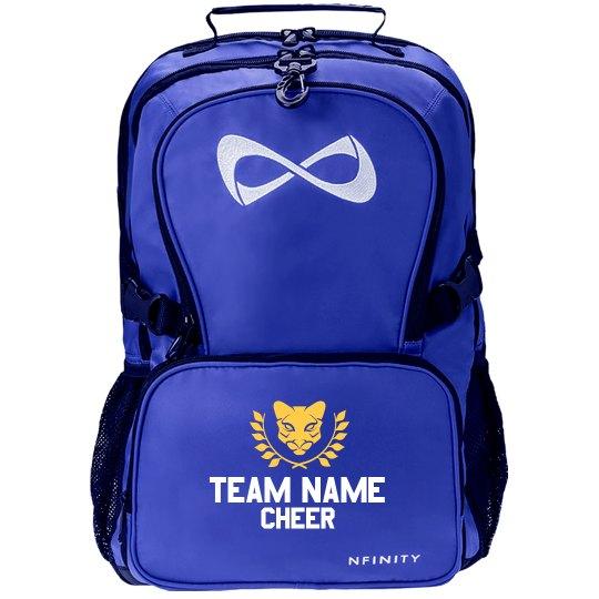 Custom Cougar Mascot Cheer Backpack