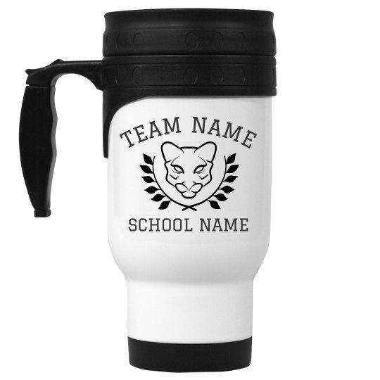 Custom Cougars Team Coffee Travel Mug