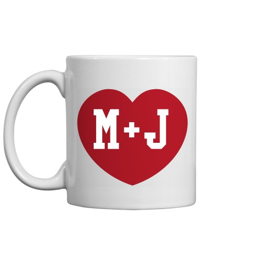 Custom Couple Initials Mug