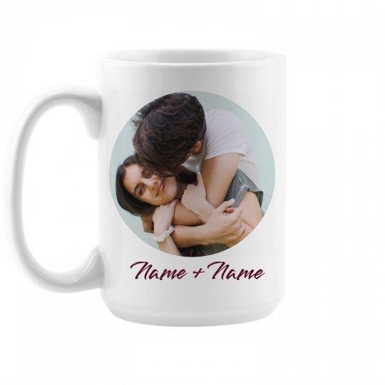 Custom Couple Photo Upload Mug