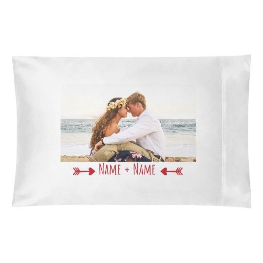 Custom Couple Valentine Photo Pillowcase