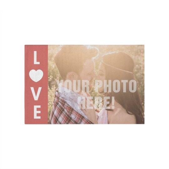 Custom Couples Photo Rug