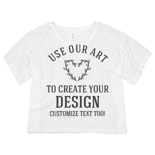 Custom Crop Top Create A Design