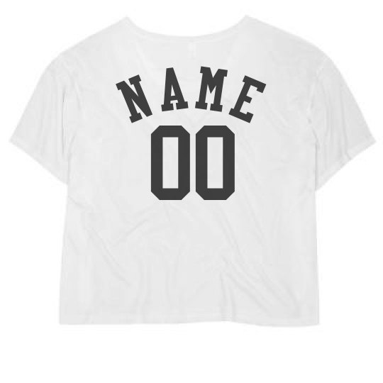 Custom Crop Top Number