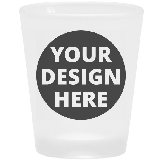 Custom Cute Frosted Shot Glass
