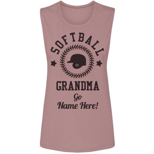 Custom Cute Softball Grandma