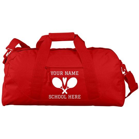 Custom Cute Tennis Duffel Bag