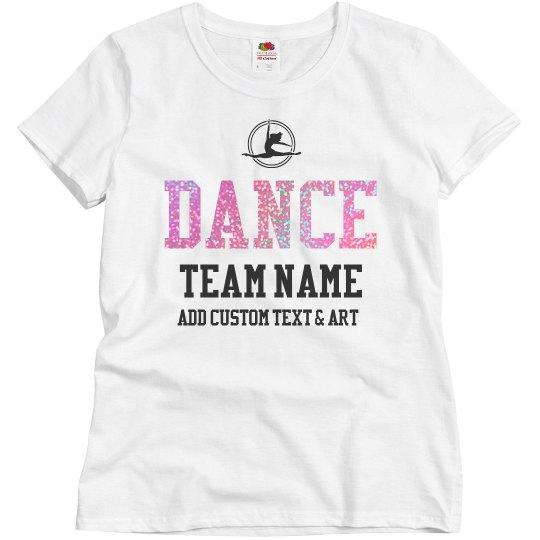 Custom Dance Group Glitter Text