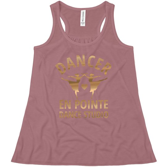 Custom Dance Studio Name With Gold