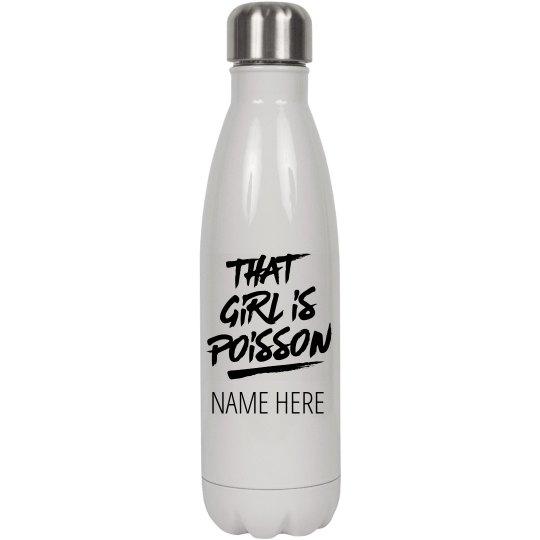 Custom Dancer Name Water Bottle