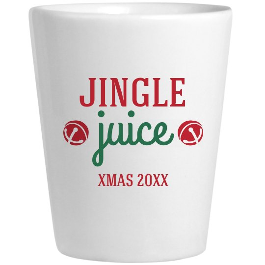 Custom Date Jingle Juice Shot Glass