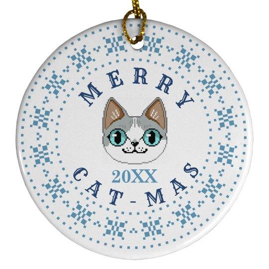 Custom Date Merry Cat-Mas