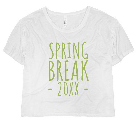 Custom Date Spring Break Crop Top