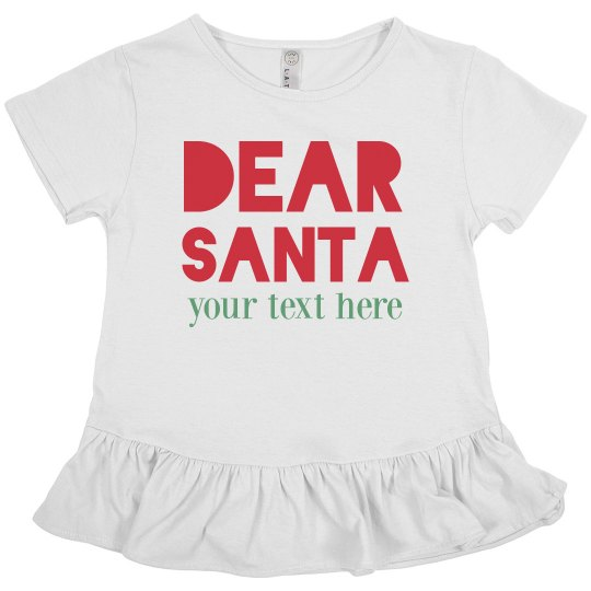 Custom Dear Santa Kids Shirt