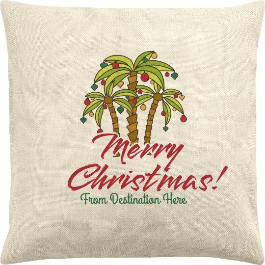 Custom Destination Holiday Pillow
