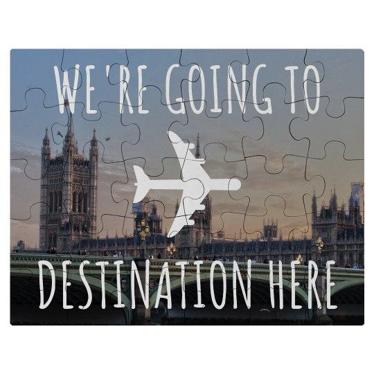 Custom Destination Reveal Puzzle