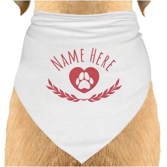 Custom Dog Name Neck Scarf