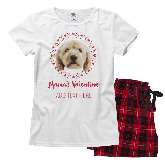 Custom Dog Photo Mama's Valentine