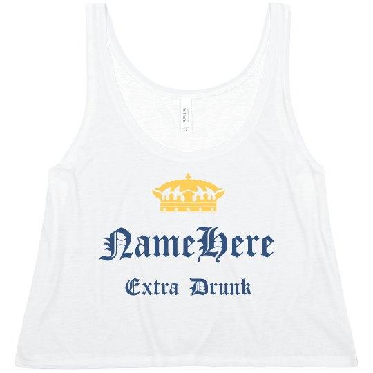 Custom Drinking Crop Top