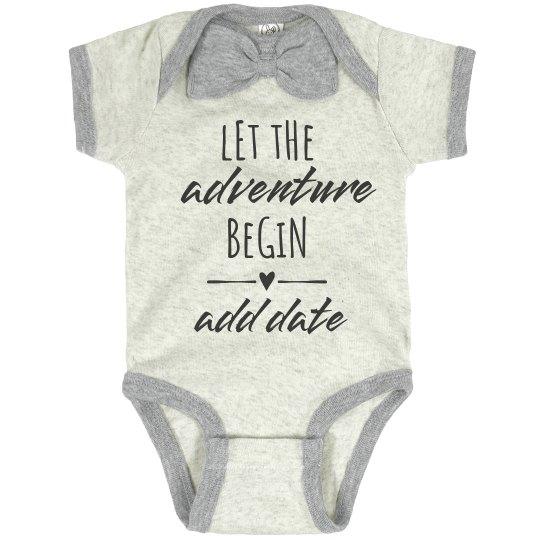 Custom Due Date Baby Announcement