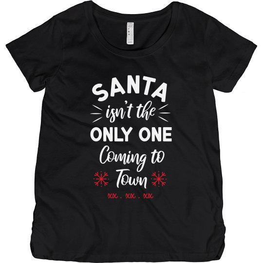 Custom Due Date Christmas Maternity
