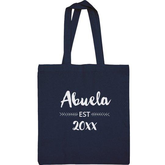 Custom Established Abuela Tote Bag